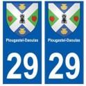 29 Plougastel-Daoulas blason autocollant plaque stickers ville