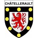 Châtellerault 86 ville Stickers blason autocollant adhésif