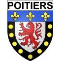 Poitiers 86 ville Stickers blason autocollant adhésif