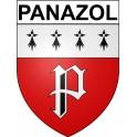 Panazol 87 ville Stickers blason autocollant adhésif