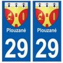 29 Plouzané blason autocollant plaque stickers ville