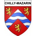 Chilly-Mazarin 91 ville Stickers blason autocollant adhésif
