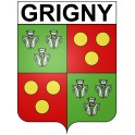Stickers coat of arms Grigny adhesive sticker