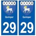 29 Quimper blason autocollant plaque stickers ville