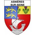 Asnières-sur-Seine 92 ville Stickers blason autocollant adhésif