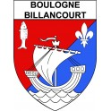 Boulogne-Billancourt 92 ville Stickers blason autocollant adhésif