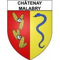 Châtenay-Malabry 92 ville Stickers blason autocollant adhésif