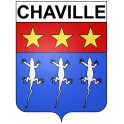 Chaville 92 ville Stickers blason autocollant adhésif