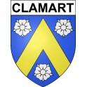 Clamart 92 ville Stickers blason autocollant adhésif