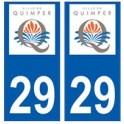 29 Quimper logo autocollant plaque stickers ville
