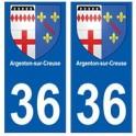 36 Argenton-sur-Creuse blason autocollant plaque stickers ville