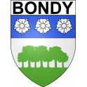 Stickers coat of arms Bondy adhesive sticker