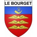 Le Bourget 93 ville Stickers blason autocollant adhésif