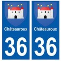 36 Châteauroux blason autocollant plaque stickers ville