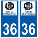 36 Châteauroux logo autocollant plaque stickers ville
