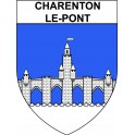 Stickers coat of arms Charenton-le-Pont adhesive sticker