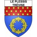 Le Plessis-Trévise 94 ville Stickers blason autocollant adhésif