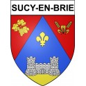 Stickers coat of arms Sucy-en-Brie adhesive sticker