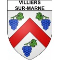 Stickers coat of arms Villiers-sur-Marne adhesive sticker