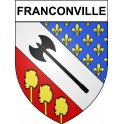 Franconville 95 ville Stickers blason autocollant adhésif
