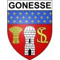 Gonesse 95 ville Stickers blason autocollant adhésif