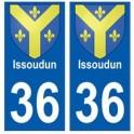 36 Issoudun blason autocollant plaque stickers ville