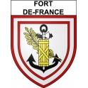 Fort-de-France 97 ville Stickers blason autocollant adhésif