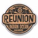 reunion rond IndiaOcean logo 652 autocollant adhésif sticker