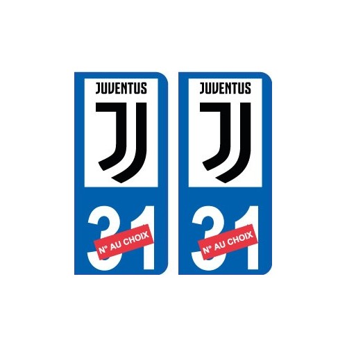 Juventus numero choix new logo autocollant plaque immatriculation auto ville sticker