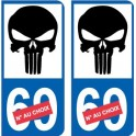 Punisher numero choix 7464 autocollant plaque immatriculation auto ville sticker
