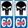 Punisher numero choix 7464 autocollant plaque immatriculation auto ville sticker