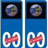 Terre numero choix sticker autocollant plaque immatriculation auto