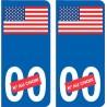 USA drapeau numero choix 748 sticker autocollant plaque immatriculation auto