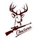 Cerf chasseur logo 6343 autocollant adhésif sticker