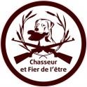 chien chasseur logo 1853 autocollant adhésif sticker