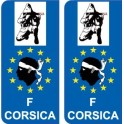 Combattant F Europe ville sticker autocollant plaque immatriculation auto