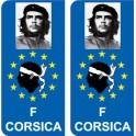 Che Guevara F Europe sticker autocollant plaque immatriculation auto