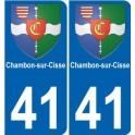 41 Chambon sur Cisse autocollant plaque immatriculation auto ville sticker