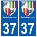 37 Montlouis-sur-Loire blason autocollant plaque stickers ville