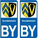 Gundelsheim BY ville sticker autocollant plaque immatriculation auto