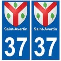 37 Saint-Avertin blason autocollant plaque stickers ville