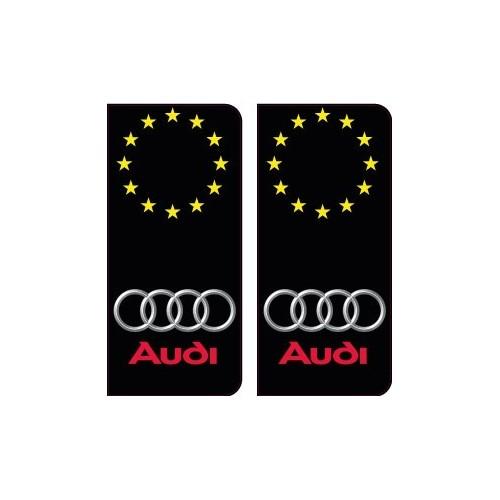 audi logo étoiles autocollant plaque immatriculation auto ville sticker