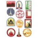 Feuille 12x Voyage Stickers muraux en vinyle autocollant pour ordinateur portable, iPad, Valise logo 4863