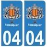 04 Forcalquier città adesivo piastra