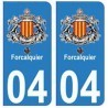 04 Forcalquier city sticker plate