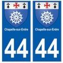 44 Chapelle-sur-Erdre blason autocollant plaque stickers ville
