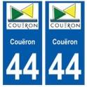 44 Couëron blason autocollant plaque stickers ville