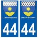 44 La Baule-Escoublac blason autocollant plaque stickers ville