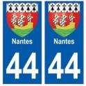 44 Nantes blason autocollant plaque stickers ville