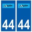 44 Nantes logo autocollant plaque stickers ville